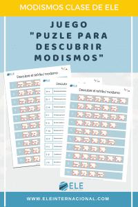 Enseña modismos en clase de español con este puzzle ideal para descubrirlos. #activity #spanishteacher
