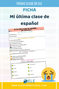 Mi última clase de ELE. Ficha para reflexionar y crear recuerdos. #clasedeele #Spanishteacher #teachmoreSpanish