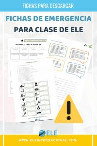 Fichas para trabajar en clase de ELE. Fichas de emergencia para clase de español. #materialesparaclase #profedeele #spanishteacher