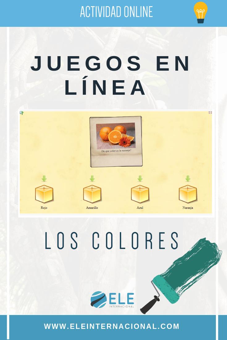 Jugar con los colores. Online games for Spanish lessons. Vocabulary games. #spanishteacher #profedeele