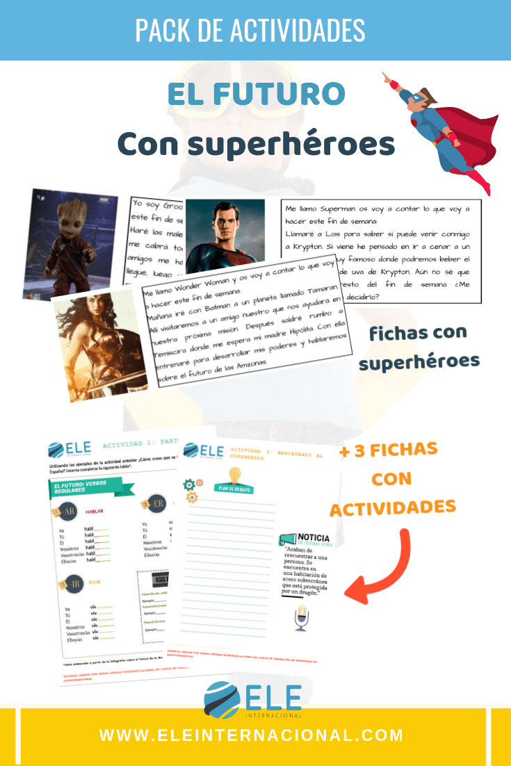 Pack de actividades para clase de español. Clase de español. #clasedeele #spanishteaher