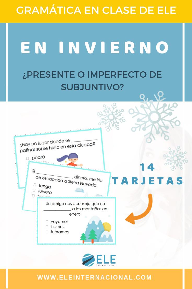 Actividades para trabajar tiempos verbales en clase de español. Ideas para trabajar en clase de español. Tarjetas y actividades descargables para clase de ELE. #spanishteacher #profedeele