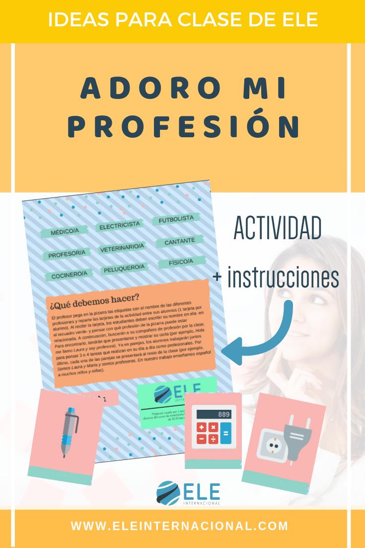 Ideas para clase de ELE. Actividades para clase de español. #profedeele #spanishteacher