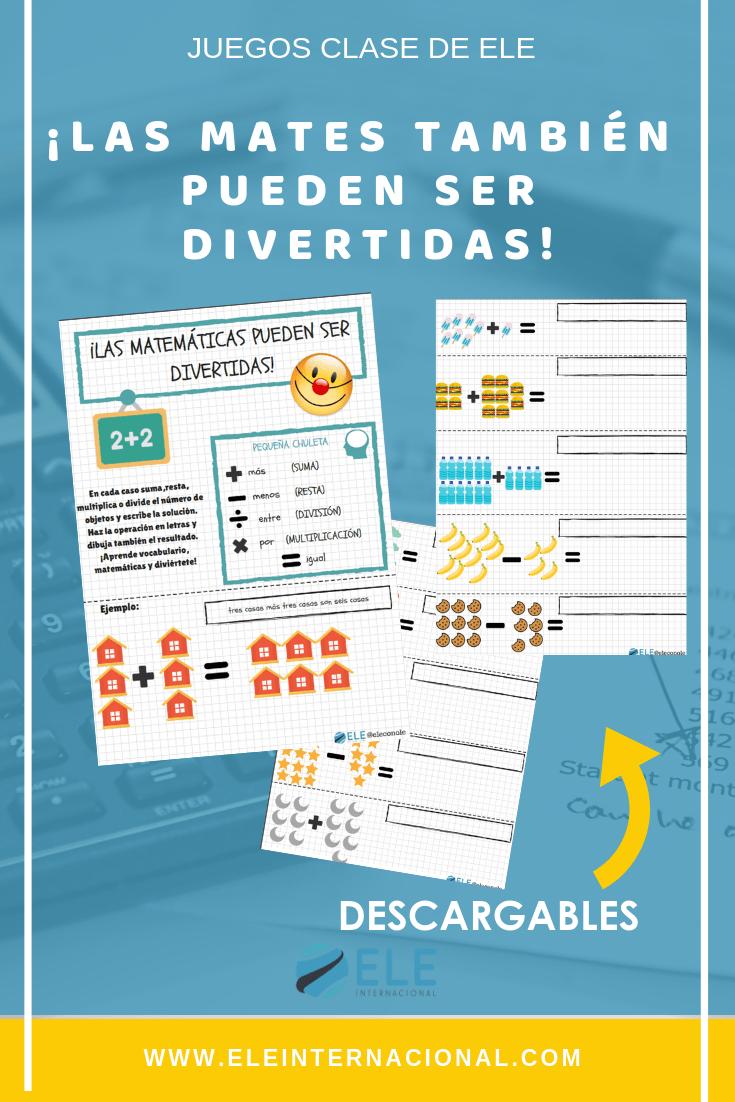 Actividades para trabajar las matemáticas en clase de español. #spanishteacher #teachspanish