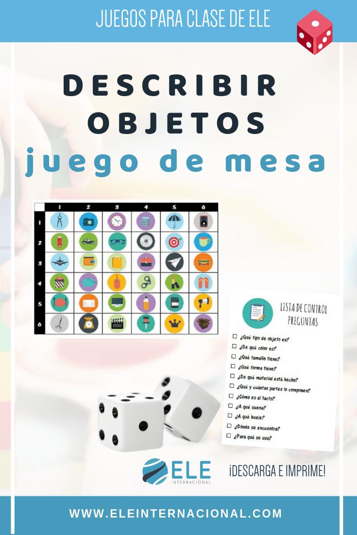 Actividades para trabajar las descripciones en clase de ELE. Spanish activities for descriptions. #profedeele #spanishlesson