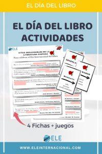 Actividades para trabajar el día del libro. Ideas para clase de español. Tabú para clase de ELE. #Spanishteacher #prrofedeele