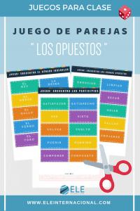 Juego de parejas. Los opuestos. Juego perfecto para cualquier nivel en clase de español. #profedeele #spanishteacher
