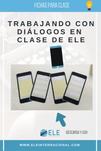 Plantilla descargable móvil. Cuadernos interactivos clase de español. #spanishteacher Diálogos