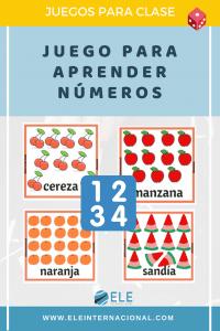 Aprender los números en clase de español. Juego para aprender a contar y conocer vocabulario. #spanishteacher #materiales