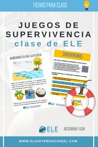 Actividades y juegos de supervivencia para la clase de español. Juegos para clase de español comprensión lectora.