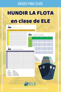 Hundir la flota para repasar español. Un juego ideal para repasar tiempos verbales y vocabulario. #juegos #claseele