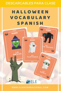 Tarjetas de vocabulario de Halloween para tus clases de ELE. #spanishteacher #clasesdeELE