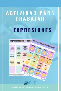 Expresiones para reaccionar en clase de español. Speaking activities MFL Spanish GCSE