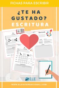 Plantilla para escribir opiniones. Escritura en clase de español. #spanishteacher #fichas