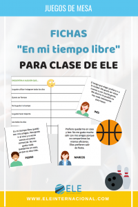 Fichas para trabajar actividades de tiempo libre. Vocabulary free time activities Spanish. #materialesparaclase #Spanishteacher #teachmoreSpanish