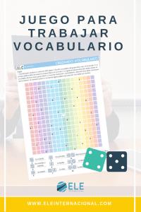 Juego de mesa para trabajar con vocabulario. Para todos los niveles. Divertido y rápido de utilizar. #profedeele #spanishteacher.