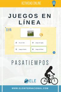 Juegos online para aprender español. Online games to learn Spanish. Juegos con vocabulario