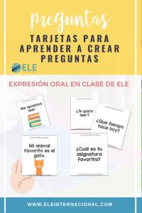 Juego para hablar en clase de ELE. Actividades para mejorar la expresión oral. #spanishteacher
