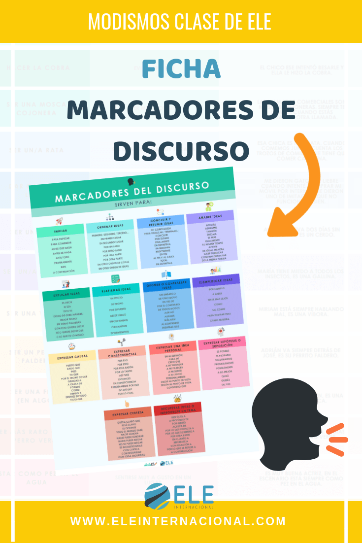 marcadores del discurso. Gramática para clase de ELE. Spanish grammar. Writing in Spanish. #profedeele #Spanishteacher