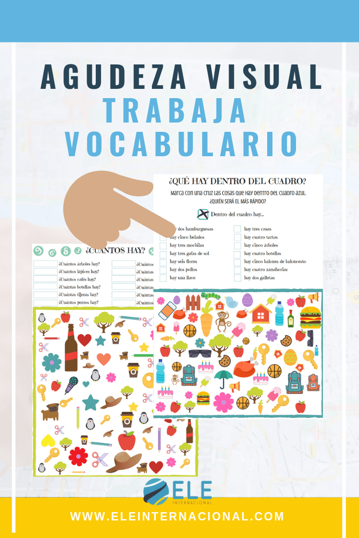 Actividad para trabajar vocabulario. Ejercicio de agudeza visual para tus clases de ELE. #activity #spanishteacher
