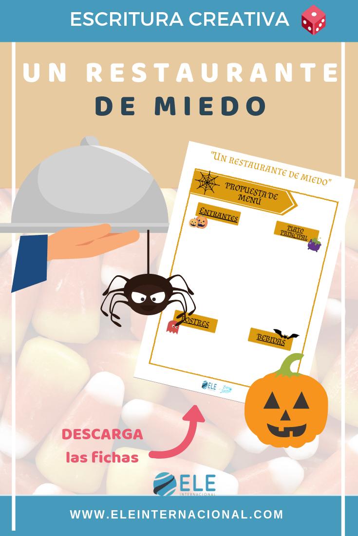 Juego de rol en el que los alumnos visitarán un restaurante de miedo por Halloween. #games #halloween