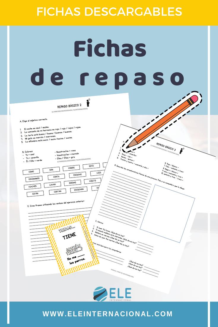 Actividades de repaso para utilizar en clase de Español. Encuentra el error en clase de ELE. Tengo quien tiene. #profedeele #spanishteacher