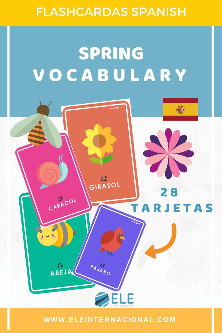 Tarjetas para trabajar vocabulario en clase de español. #vocabularioclaseELE #profedeELE