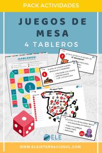 Pack de juegos de mesa para clase de idiomas. Descargables para trabajar en clase. #profedeELE #SpanishTeacher #TeachmoreSpanish