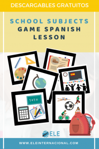 Games for basic levels Spanish lessons. Spanish for kids. School subjects.