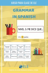 Actividades para trabajar gramática en clase de español de manera fácil y atractiva. #profedeele #spanishteacher Spanish grammar