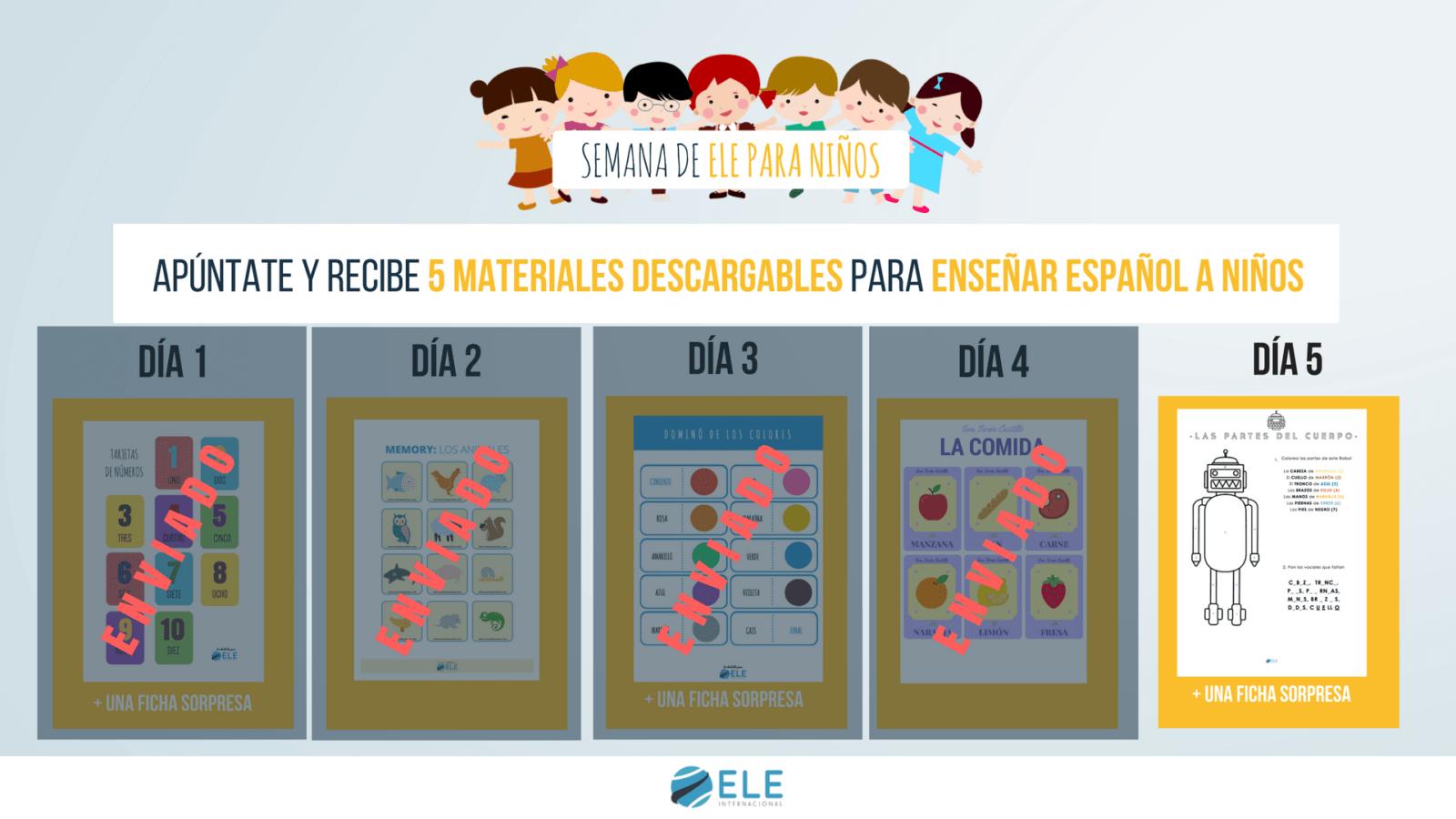 Español para niños las partes del cuerpo fichas. Parts of the body in Spanish worksheet