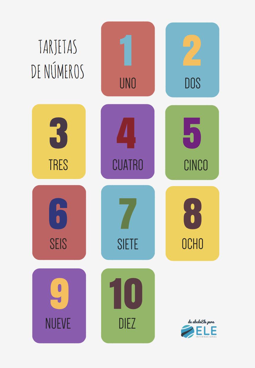 Números en clase de español. Números clase de ELE Tarjetas - Numbers in Spanish Español para niños #spanishteacher #profedeele