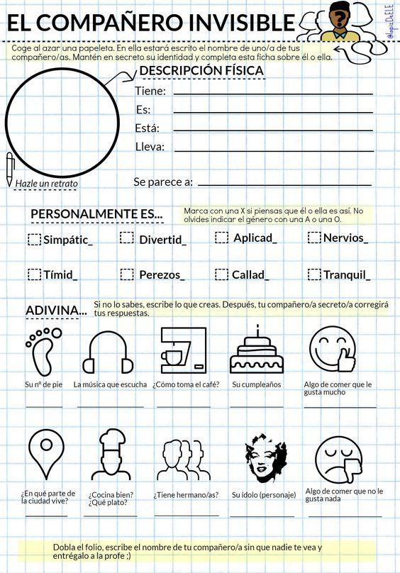 Actividades para conocer a tus alumnos. Educación emocional. Actividades para el primer día. #claustrodeig #profedeele