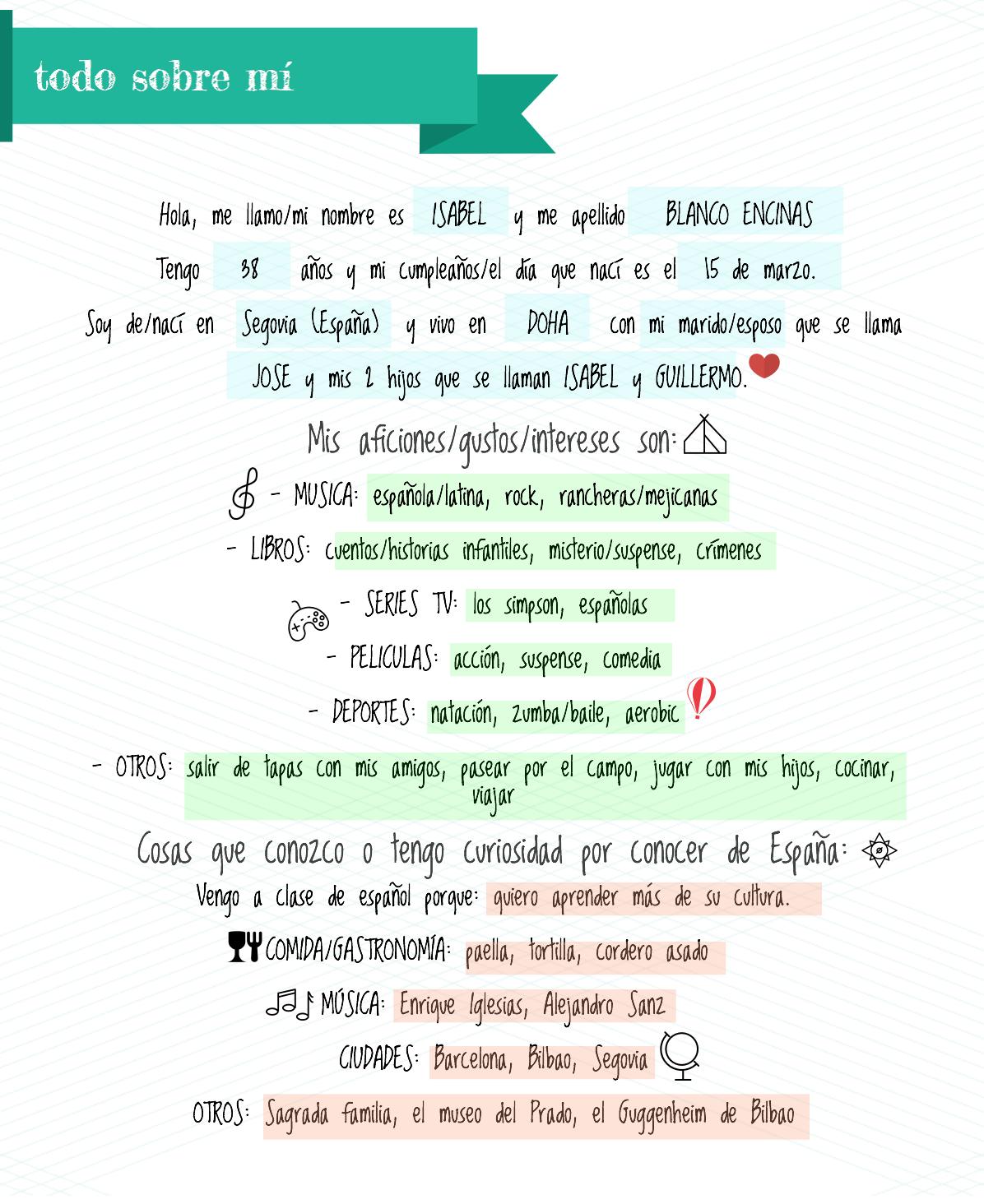 trabajar información personal en clase de idiomas. Todo sobre mi clase de ELE #teachmorespanish #profedeele