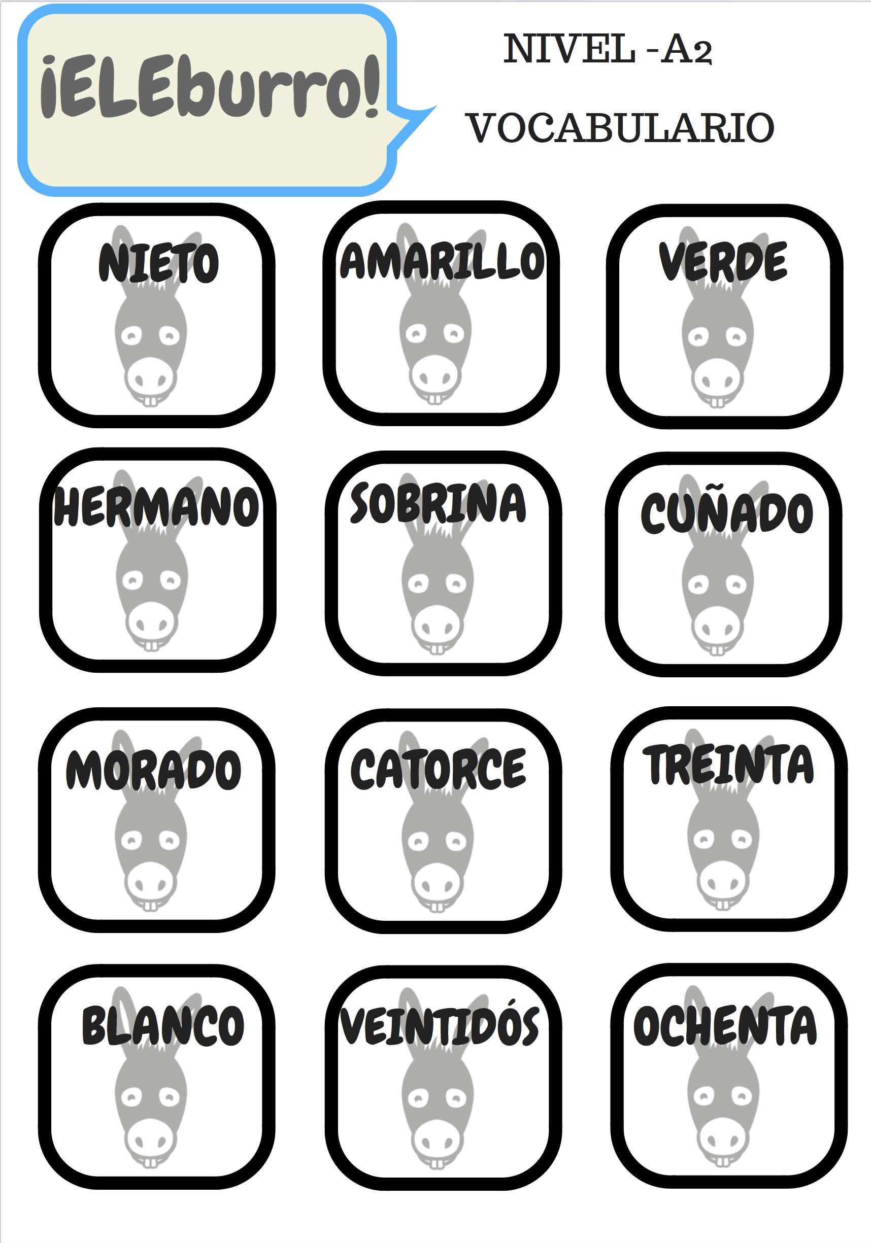 Juego de cartas para clase de ELE Actividades para niños #spanishteacher #profedeele