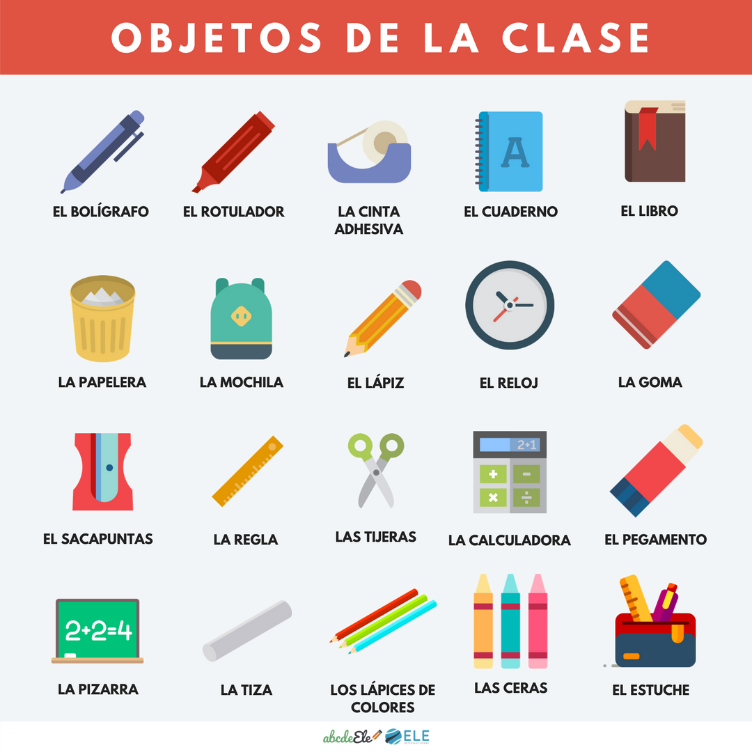Pósteres vocabulario clase de ELE. Vocabulario el colegio de ELE. Spanish the school vocabulary. #spanishteacher #profedeele