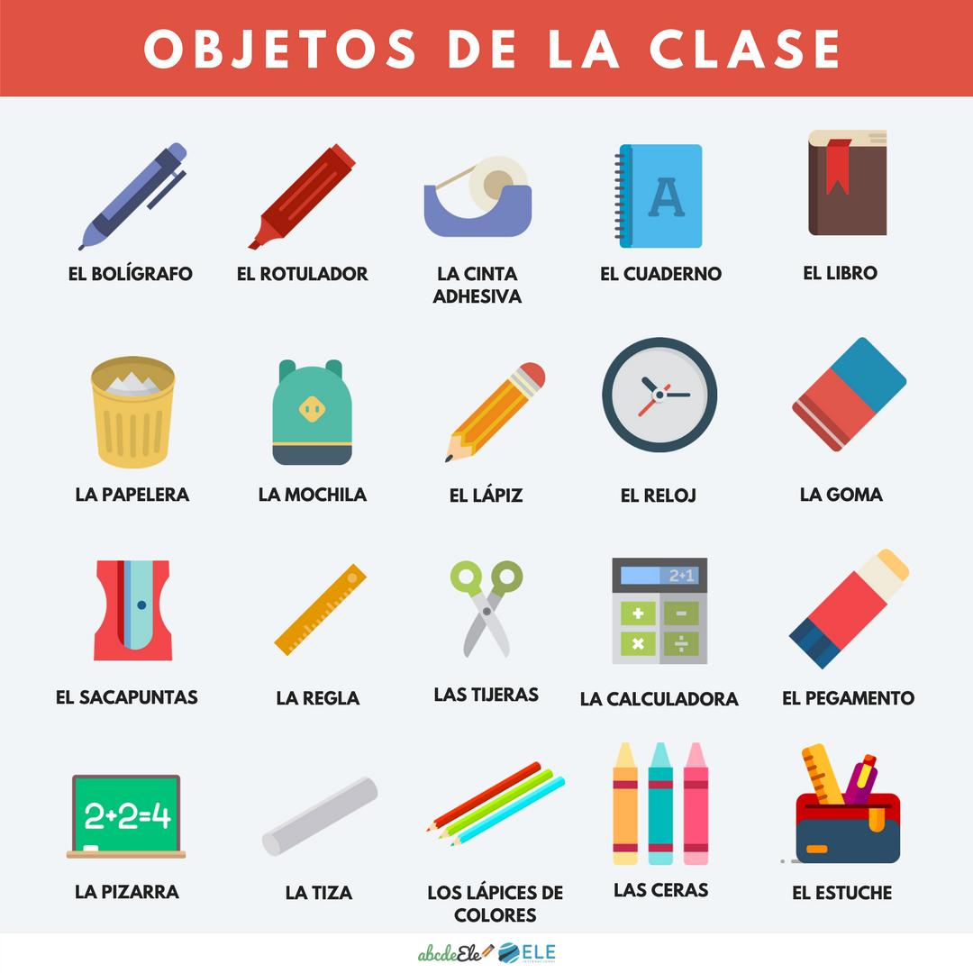 Pósteres vocabulario clase de ELE. Vocabulario el colegio de ELE. Spanish the school vocabulary. #spanishteacher #profedeele