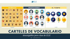 Póster para descargar en clase de ELE. Decoración para clase de español. SPanish vocabulary. Spanish GCSE