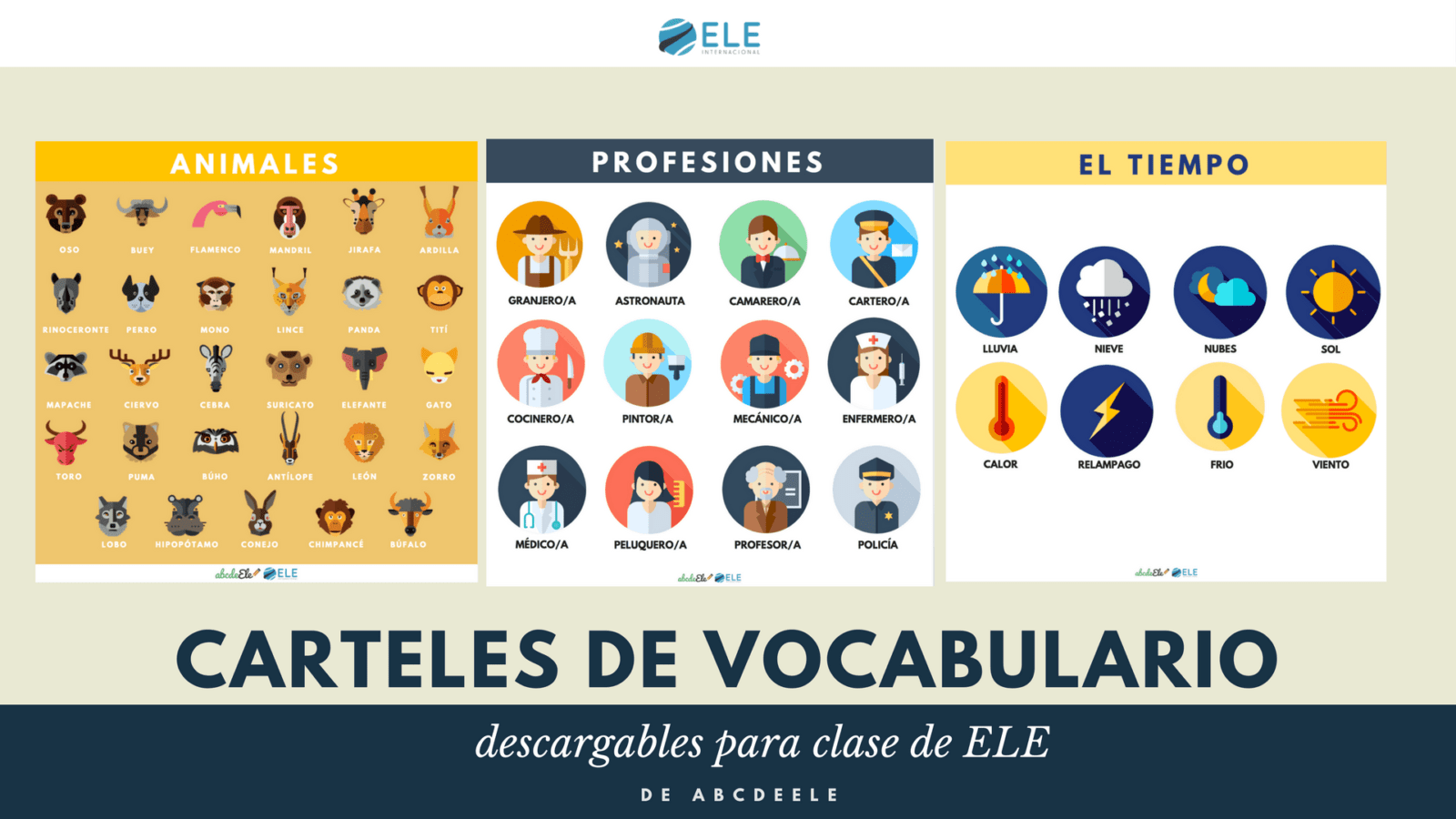 Póster para descargar en clase de ELE. Decoración para clase de español. SPanish vocabulary. Spanish GCSE