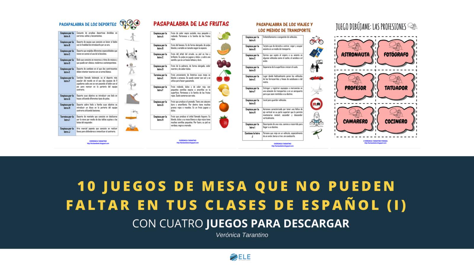 Juegos de mesa para clase. Juegos de mesa en clase de español. Spanish lessons Spanish. #profedeele #teachmoreSpanish