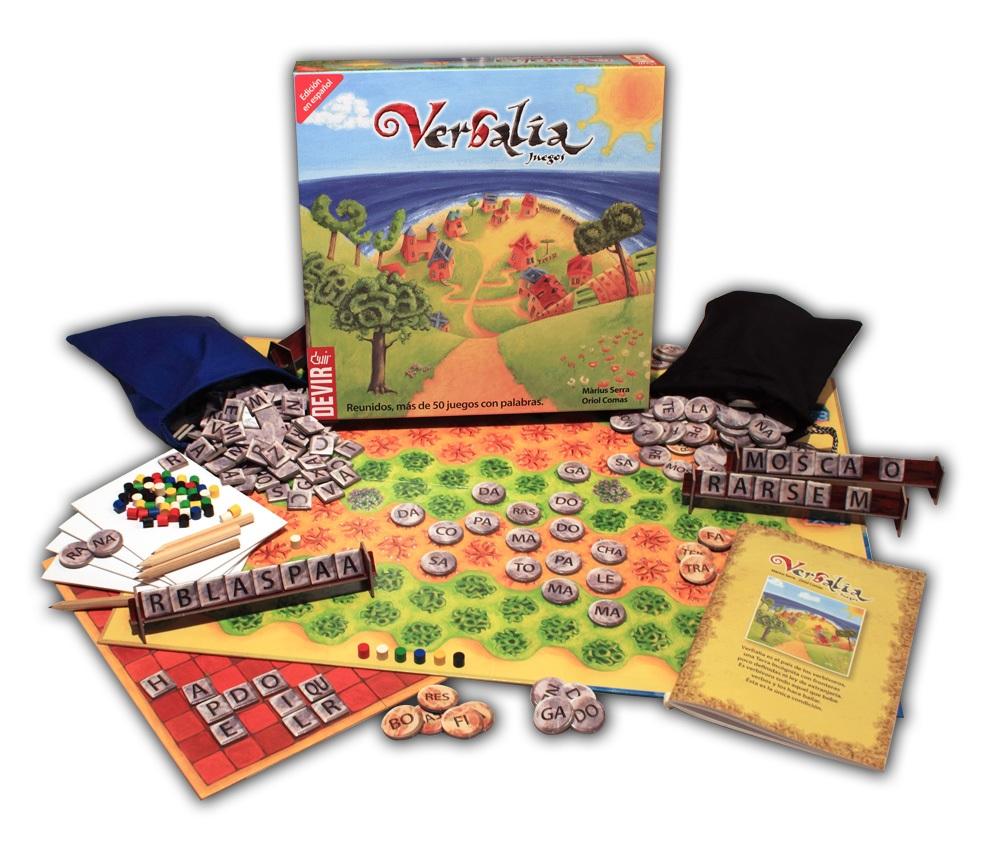 VERBALIA Juegos de mesa para clase. Juegos de mesa en clase de español.