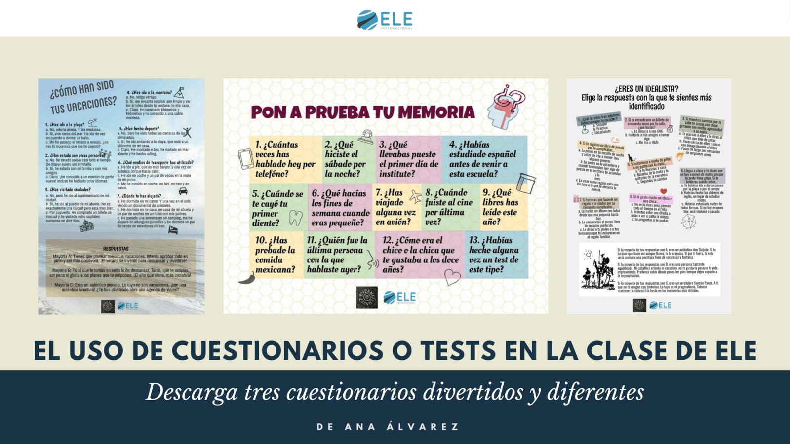 Uso de cuestionarios y test en clase de idiomas