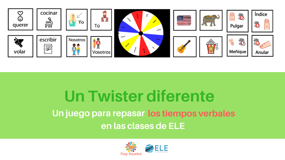 Finger twister Ideas creativas y divertidas para clase de ELE. Juegos de mesa en clase de idiomas. Descargables para clase de español. #spanishteacher #profedeele