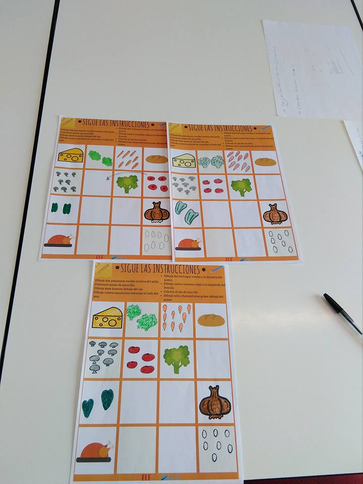ACTIVIDAD PARA TRABAJAR PREPOSICIONES Y VOCABULARIO EN CLASE DE ELE Ideas juegos clase de ELE. Fichas descargables. #profedeele #teachmorespanish