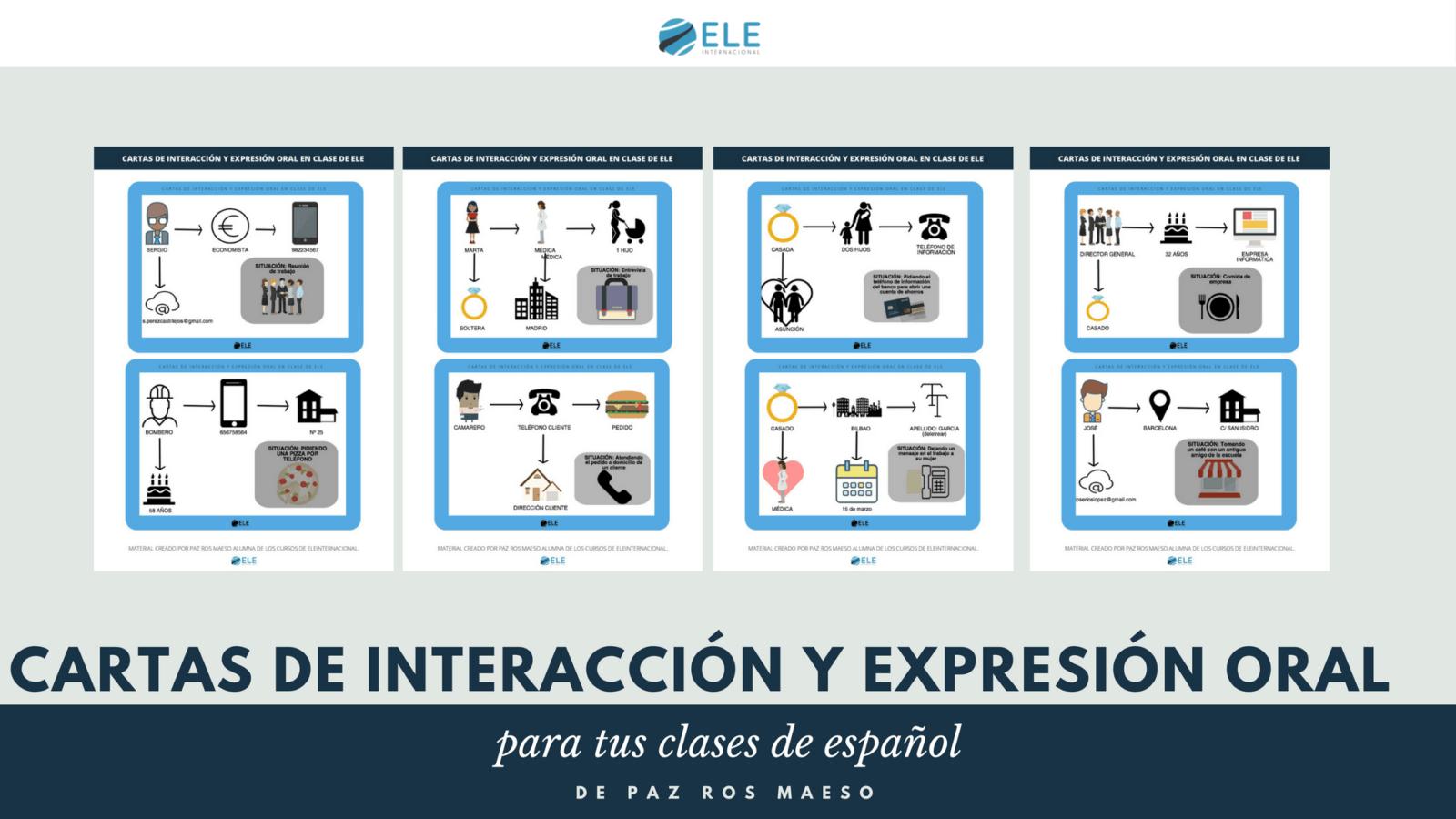 Actividades para mejorar la expresión oral en clase de español. Ideas clase de ELE #spanishteacher #profedeele