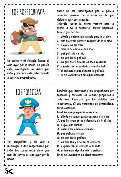 Jugando A Policias Y Ladrones En La Clase De Espanol Eleinternacional
