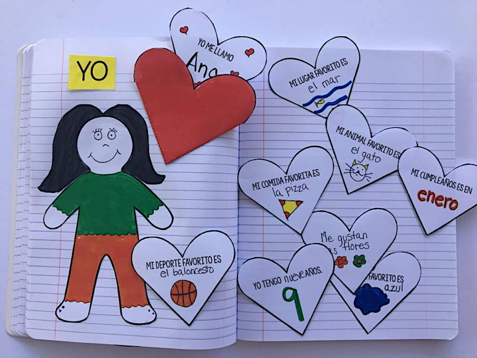 Cuadernos interactivos en clase de español. interactive books Spanish lesson. Spanish for kids. #spanishlesson #spanishforkids