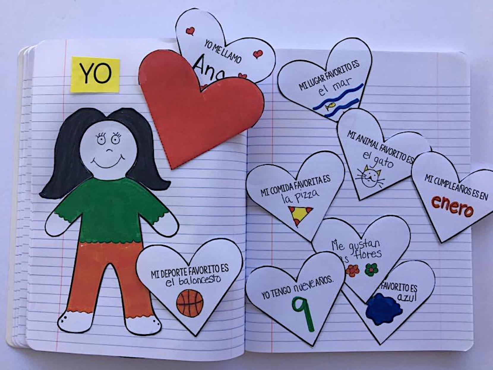 Cuadernos interactivos en clase de español. interactive books Spanish lesson. Spanish for kids. #spanishlesson #spanishforkids