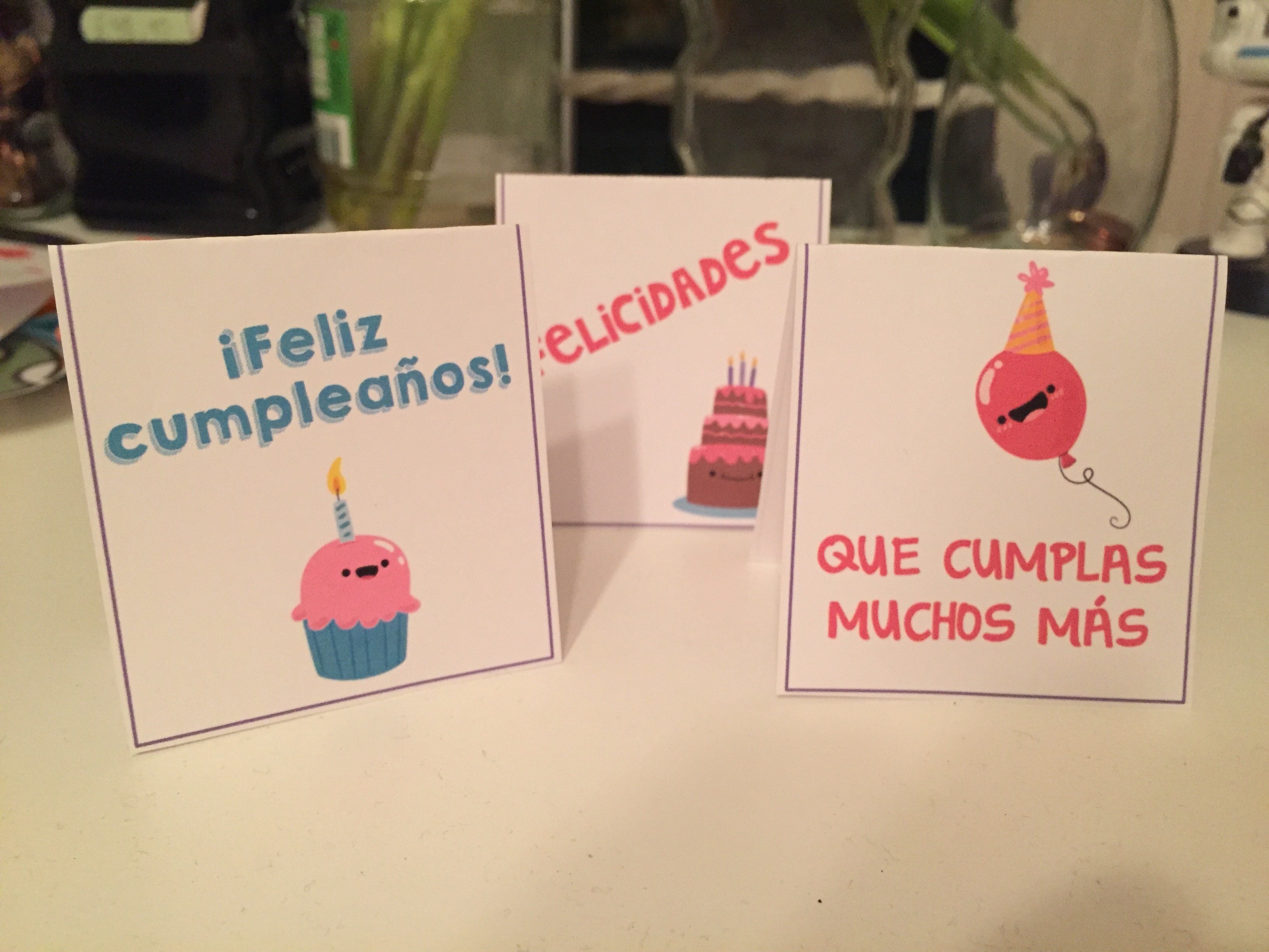 TARJETAS de cumpleaños para imprimir. Cumpleaños en clase. Regalos para alumnos. #claustrodeig