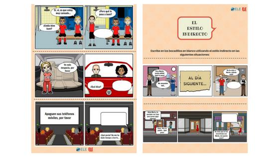 Estilo indirecto actividades para clase de español. Juegos y desargables para clase de ELE #teachmoreSpanish #spanishlesson